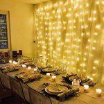 LE Lighting EVER 3m*3m Rideaux Lumineux, Guirlande LED Extérieure, Lumière Dimmable Réglable Blanc Chaud, à Piles ou USB, 8 Modes Résistant pour Décoration Intérieure Extérieure Chambre Terrasse Balcon Pergola de la marque Lighting EVER image 3 produit