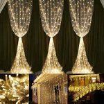 LE Lighting EVER 6m*3m Rideau Lumineux, Guirlande Lumineuse LED, 8 Modes, 594 LED, Lumière Blanc Chaud Lampe Ambiance, avec Adaptateur Secteur, pour Décoration Rideaux Fenêtre Balcon Terrasse Véranda de la marque Lighting EVER image 1 produit