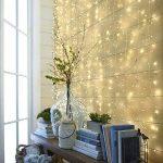 LE Lighting EVER 6m*3m Rideau Lumineux, Guirlande Lumineuse LED, 8 Modes, 594 LED, Lumière Blanc Chaud Lampe Ambiance, avec Adaptateur Secteur, pour Décoration Rideaux Fenêtre Balcon Terrasse Véranda de la marque Lighting EVER image 4 produit