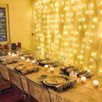 LE Lighting EVER Guirlande LED Rideau lumineux, 3m*3m, 8 Modes, Lumière Blanc Chaud, pour Décoration Rideau, Fenêtre, Jardin, Terrasse, Fêtes, Mariage de la marque Lighting EVER image 4 produit