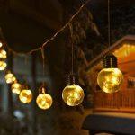 LE Lighting EVER Guirlande Lumineuse Extérieure, Guirlande Guinguette LED, 10 Boules 8 Modes Lumière Dimmable, Guirlandes pour Décoration Mariage Chambre Café Balcon Terrasse Parasol de la marque Lighting EVER image 2 produit