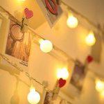 LE Lighting EVER Guirlande Lumineuse LED 10m, 100 Boules, Lumière Blanc Chaud, 8 Modes, pour Décoration Intérieure, Chambre, Terrasse, Parasol, Café, Bistrot de la marque Lighting EVER image 2 produit
