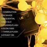 LE Lighting EVER Guirlande Lumineuse LED 10m, 100 Boules, Lumière Blanc Chaud, 8 Modes, pour Décoration Intérieure, Chambre, Terrasse, Parasol, Café, Bistrot de la marque Lighting EVER image 1 produit