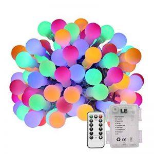 LE Lighting EVER Guirlande Lumineuse LED, 50 Boules LED 5M 4 Couleurs 8 Modes, à Piles, Guirlandes Boules pour Mariage Chambre Terrasse Pergola Balcon de la marque Lighting EVER image 0 produit