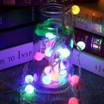 LE Lighting EVER Guirlande Lumineuse LED, 50 Boules LED 5M 4 Couleurs 8 Modes, à Piles, Guirlandes Boules pour Mariage Chambre Terrasse Pergola Balcon de la marque Lighting EVER image 4 produit