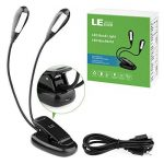 LE Lighting EVER Lampe de Lecture LED Rechargeable 1000mAh, 8 LED, 2 Niveaux de Luminosité, Lampe à Pince Portable pour Livre, Liseuse, Lit, Pupitre, Piano, etc de la marque Lighting EVER image 1 produit