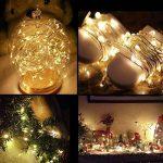 LE Lighting EVER Lot de 16, Guirlandes Lumineuses à Piles, en Cuivre LED, Blanc Chaud, Ambiance Lumière pour Décoration Anniversaire Noël Fête Mariage Soirée Bal Table Terrase Verre Bouteille de la marque Lighting EVER image 1 produit