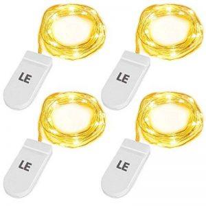 LE Lighting EVER Lot de 4 Guirlandes Lumineuses LED, à Piles, Blanc Chaud, Etanche IP65, Lumière Etoilée pour Décoration Chambre Table Anniversaire Mariage Noël Soirée de la marque Lighting EVER image 0 produit
