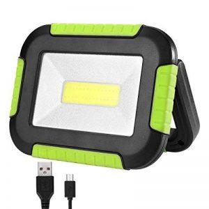 LE Lighting EVER Projecteur LED Portable 10W, 1000 Lumens 4400mAh Rechargeable USB, 3 modes d'éclairage, Luminosité Réglable,IP44 Résistante à l'Eau pour Camping Bricolage Atelier Chantier de la marque Lighting EVER image 0 produit