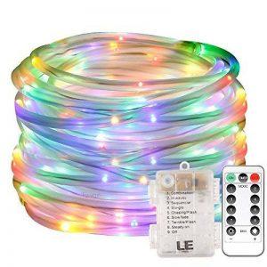 LE Lighting EVER Tube Lumineux Extérieur LED RGB,10m 120 LED, Etanche, Fil en Cuivre Interne, à Piles, avec Télécommande, pour Décoration Jardin Arbre Terrasse Pergola Tonnelle de la marque Lighting EVER image 0 produit