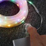LE Lighting EVER Tube Lumineux Extérieur, LED RGBY USB, 10m 8 Modes, Etanche, avec Télécommande, pour Décoration Extérieure Intérieure Jardin Arbre Terrasse Pergola Tonnelle Balcon de la marque Lighting EVER image 3 produit