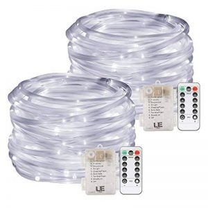 LE Lighting EVER Tube Lumineux LED, Guirlandes Extérieure, 12m Dimmable Blanc Froid, à Piles pour Décoration Mariage Jardin Parc Terrasse Arbre Pergola, etc. Lot de 2 de la marque Lighting EVER image 0 produit