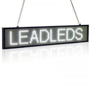 Leadleds Ultra-Thin Design P5mm 16X96 pixels SMD LED programmable message de défilement panneau de signe, PC Software change messages (ambre) (Blanc) de la marque Leadleds image 0 produit