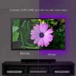 LEBRIGHT USB LED TV rétroéclairage ruban led,100cm(39Inch) 5V bande led Kit d'éclairage USB Bias pour jeux de télévision, éclairage multi-couleurs imperméable à l'eau pour HDTV de la marque image 4 produit