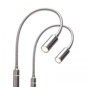 LED 4W Lumière de chevet à intensité variable, liseuse, lampe de chevet flexible 2er Set chrom de la marque kalb - Material für Möbel image 0 produit