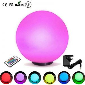 LED changement de couleur ampoules atmosphère Lampe de table RVB Changement de couleur Veilleuse Lampe d'ambiance/Lampe de chevet de la marque Lightbox image 0 produit