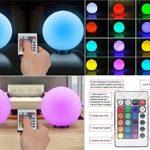 LED changement de couleur ampoules atmosphère Lampe de table RVB Changement de couleur Veilleuse Lampe d'ambiance/Lampe de chevet de la marque Lightbox image 1 produit