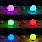 LED changement de couleur ampoules atmosphère Lampe de table RVB Changement de couleur Veilleuse Lampe d'ambiance/Lampe de chevet de la marque Lightbox image 3 produit