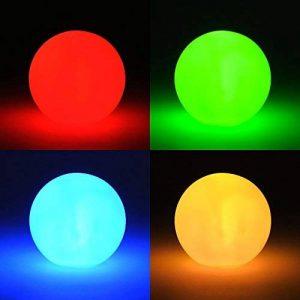 LED changement de couleur effet–Petite lampe LED avec piles–Lampe Sphère boule lumineuse Boule Ambiance Décoration de changement de couleur de la marque levandeo image 0 produit