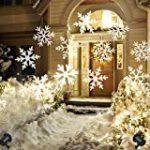 LED Chute de neige Lumière Projecteur Chute de Neige Led Lumières avec Télécommande Rotative Paysage Étanche Flocon De Neige Éclairage Décoratif pour Parti Weedding de la marque MINPE image 3 produit