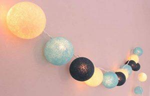 LED–Guirlande lumineuse avec 20boules en coton Océan '– Cotton Ball Lights, intérieur de la marque Illuminate Your Home image 0 produit