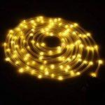 LED Guirlande lumineuse,KINGCOO Etanche 39ft 12M 100 LED conduit à énergie solaire tuyau souple Tube Rope Fil de cuivre de Noël étoilées de lumières pour le mariage Outdoor Garden Party (Blanc chaud) de la marque KINGCOO image 3 produit