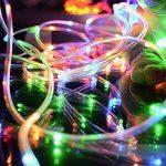 LED Guirlande lumineuse,KINGCOO Etanche 39ft 12M 100 LED conduit à énergie solaire tuyau souple Tube Rope Fil de cuivre de Noël étoilées de lumières pour le mariage Outdoor Garden Party (Multi-Couleurs) de la marque KINGCOO image 4 produit