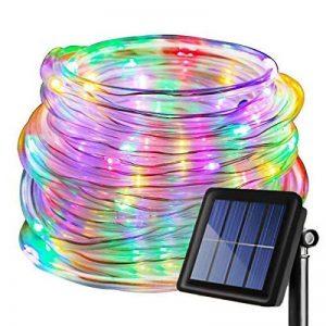 LED Guirlande lumineuse,KINGCOO Etanche 39ft 12M 100 LED conduit à énergie solaire tuyau souple Tube Rope Fil de cuivre de Noël étoilées de lumières pour le mariage Outdoor Garden Party (Multi-Couleurs) de la marque KINGCOO image 0 produit