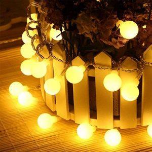 LED Guirlande Lumineuse, SOCU LED Ball String Lights de 5 mètres 50 Petits Boules à l'intérieur/extérieur pour les fêtes de Noël Party Decorating Jardin Terrasse (blanc chaud) de la marque SOCU image 0 produit