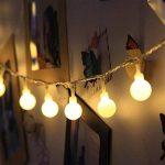 LED Guirlande Lumineuse, SOCU LED Ball String Lights de 5 mètres 50 Petits Boules à l'intérieur/extérieur pour les fêtes de Noël Party Decorating Jardin Terrasse (blanc chaud) de la marque SOCU image 1 produit