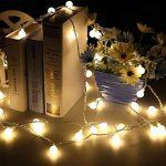 LED Guirlande Lumineuse, SOCU LED Ball String Lights de 5 mètres 50 Petits Boules à l'intérieur/extérieur pour les fêtes de Noël Party Decorating Jardin Terrasse (blanc chaud) de la marque SOCU image 3 produit