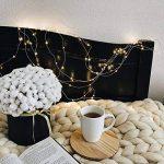 Led guirlandes de lumières 100 leds fées décoratives à piles, lumière de fil de cuivre pour chambre à coucher, mariage (33ft / 10m blanc chaud) de la marque Makion image 3 produit