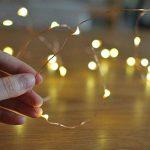 Led guirlandes de lumières 100 leds fées décoratives à piles, lumière de fil de cuivre pour chambre à coucher, mariage (33ft / 10m blanc chaud) de la marque Makion image 2 produit