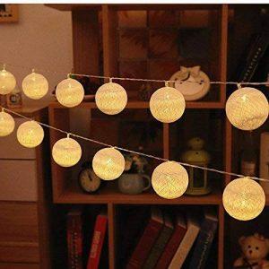 LED-Guirlandes Lumineuses,ELINKUME Blanc Chaud 20LEDs Lanternes Forme Série de Lampe 3.3M Long Belle Décoration D'intérieur éclairage Puissance de la Batterie Adapté aux Mariage, Fêtes, Cadeaux de la marque ELINKUME image 0 produit