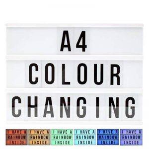 LED lampe décorative couleurs changeantes Boîte à lumière interchangeables lettres chiffres symboles 90St. A 4 de la marque Freudenhaus image 0 produit
