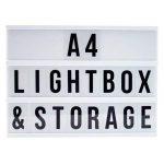 LED lampe décorative couleurs changeantes Boîte à lumière interchangeables lettres chiffres symboles 90St. A 4 de la marque Freudenhaus image 1 produit