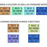 LED lampe décorative couleurs changeantes Boîte à lumière interchangeables lettres chiffres symboles 90St. A 4 de la marque Freudenhaus image 4 produit