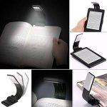 [LED Lampe de Lecture] Aimego USB Rechargeable Lampes-clips 4 Luminosité Réglable Pliable pour livres,kindle, iPad, ordinateurs portables,etc. (Noir) de la marque Aimego image 1 produit