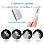[LED Lampe de Lecture] Aimego USB Rechargeable Lampes-clips 4 Luminosité Réglable Pliable pour livres,kindle, iPad, ordinateurs portables,etc. (Noir) de la marque Aimego image 4 produit