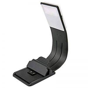 [LED Lampe de Lecture] Aimego USB Rechargeable Lampes-clips 4 Luminosité Réglable Pliable pour livres,kindle, iPad, ordinateurs portables,etc. (Noir) de la marque Aimego image 0 produit