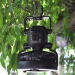 LED Lanterne de camping et de ventilateur, Kugi ® Tente Fan Camping de plafond - 2 en 1 multi-fonctionnelle 18 LED Camping Tente Lampe avec ventilateur de plafond.(Noir) de la marque KuGi image 4 produit