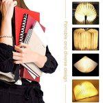 LED Livre Lampe GEEDIAR Lampe LED Pliante en Forme de Livre avec 2500mAh Batterie Lithium Lampe de chevet Veilleuse Lumieres Decoratives Lampes d'ambiance Dimension: 22*17*4CM (8.66*6.69*1.57Inch) de la marque GEEDIAR image 3 produit