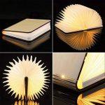 LED Livre Lampe GEEDIAR Lampe LED Pliante en Forme de Livre avec 2500mAh Batterie Lithium Lampe de chevet Veilleuse Lumieres Decoratives Lampes d'ambiance Dimension: 22*17*4CM (8.66*6.69*1.57Inch) de la marque GEEDIAR image 2 produit
