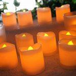LED Lumières Bougies, QBeau batterie opérée LED de thé de fausses bougies avec non parfumé scintillement sans flammes lumignon ampoule réaliste pour les fêtes d'anniversaire, décoration de festivals, mariages, Noël-100 + heures, Pack de 24 de la marque QB image 3 produit