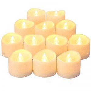 LED Lumières Bougies, QBeau batterie opérée LED de thé de fausses bougies avec non parfumé scintillement sans flammes lumignon ampoule réaliste pour les fêtes d'anniversaire, décoration de festivals, mariages, Noël-100 + heures, Pack de 24 de la marque QB image 0 produit