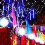 Led Meteor Douche Chute De Pluie Glaçon Neige Extérieure Guirlandes Lumières Étanche Jardin 30 cm 8 Tube 144 LEDs Chambre D'intérieur Briller Cool Chute De Neige Éclairage De La Bande Pour de la marque AIHOME image 2 produit