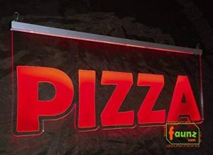 """'LED panneau publicitaire, faunz Panneau lumineux, plaque signalétique """"Pizza Nouveau faunz© com de la marque faunz_com * LED Manufaktur Deutschland* Steve Gross image 0 produit"""