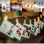 LED Photo Clip Guirlandes, 20 Clips Photo pour Hanging Photos Party Halloween Décoration de Noël (Warm White) de la marque Leisuretime image 3 produit