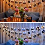 LED Photo Clip Guirlandes, 20 Clips Photo pour Hanging Photos Party Halloween Décoration de Noël (Warm White) de la marque Leisuretime image 4 produit