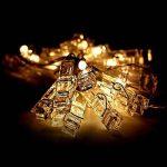LED Photo Clips, Bukm 20 LED Photo Clip Pince Guirlande Lumineuse pour Accrocher les Photos Notes,2.2Mètre Blanc chaud Lumière Batteries Alimenté pour décor la Saint Valentin, Noël, Anniversaire, Fête de la marque Bukm image 3 produit